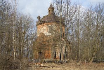 Вид на церковь Климента, папы Римского. Заполье, Ленинградская область
