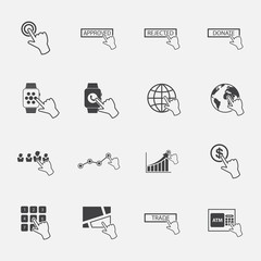 hand pointer icons set.vector.