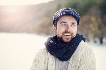 Man in woolen sweater