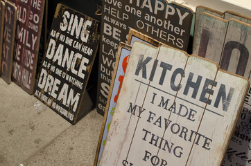 Personalized wooden boards with messages and  quotes