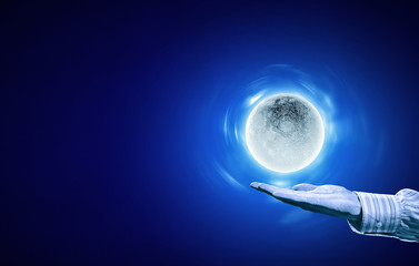 Moon on hand