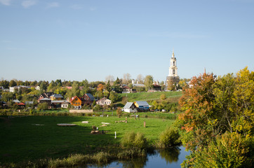 The Russian city of Suzdal