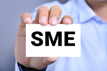 SME letters (or Small and Medium-sized  Enterprises) on the card