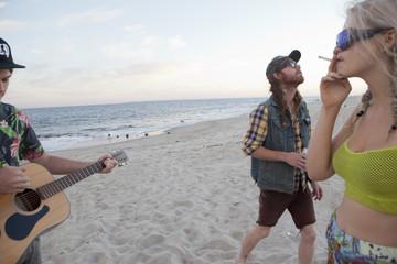 Friends enjoying the beach