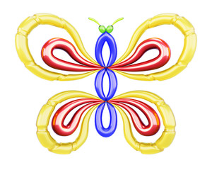 Butterfly of balloons. 3d.