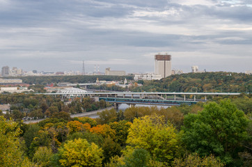 view  from Sparrow hills, Moscow, Russia