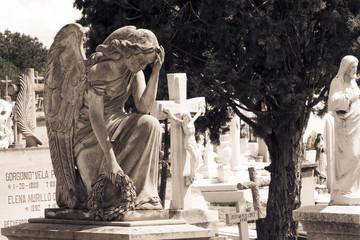 ángel y tumbas