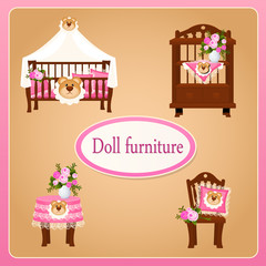Dollhouse furniture for children's room