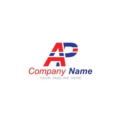A and P Blue and Red - Logo Letters