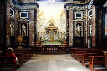 Vilnius cathedral interior view