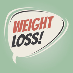 weight loss retro speech bubble