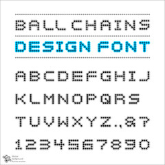 Ball Chains Design Font #Vector