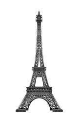 Eiffel tower isolated.