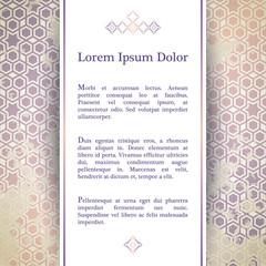 Invitation card with geometric decor