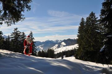 Nikolaus in den Schweizer Bergen