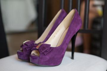 Purple Wedding shoes
