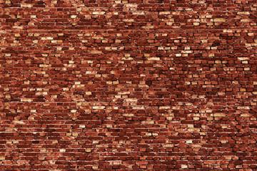 Background of red, tiny bricks texture.