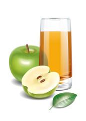 Apple juice illustration