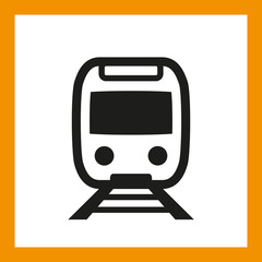 OMNI ICON SERIES: Train icon, railway travel. Editable EPS vector, black isolated on white background.