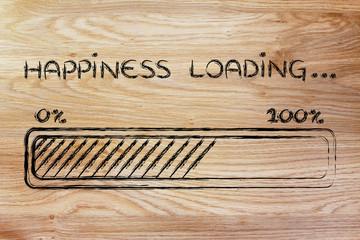 happiness loading, progess bar illustration