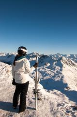 Skifahren Berge Winter