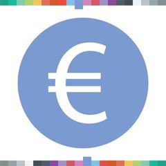 Euro sign icon.