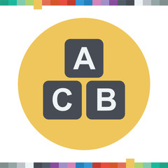 Three squares with the letters ABC icon.