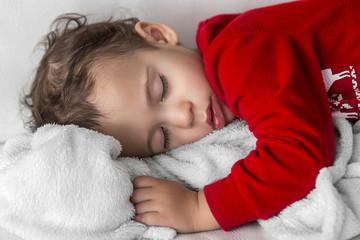 Little boy taking a nap