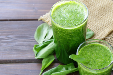 natural organic smoothie green spinach - healthy food
