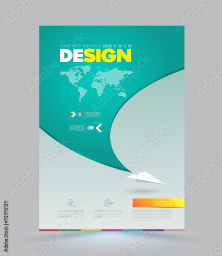 set of design templates for brochures flyers mobile. quot