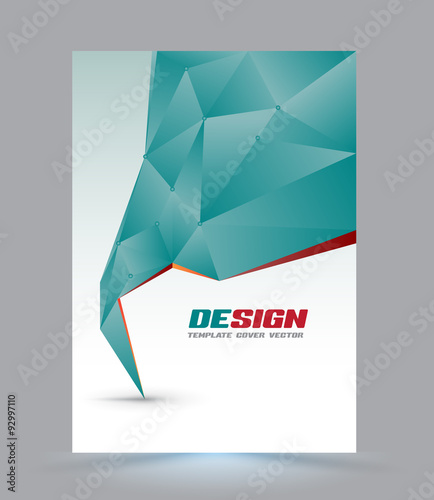 Cover Page Layout Template. Polygon Abstract Speech Style. Vector