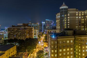 Downtown Atlanta, GA rooftop view