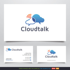 Cloud Talk Wifi App Logo and Business Card Design