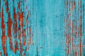 Photo sur Aluminium Coquillage Old Blue Obsolete Wooden Background Texture