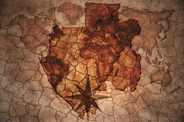 vintage gabon map