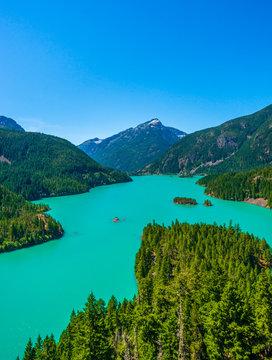 Amazing view of Diablo Lake at North Cascades national park, Washington