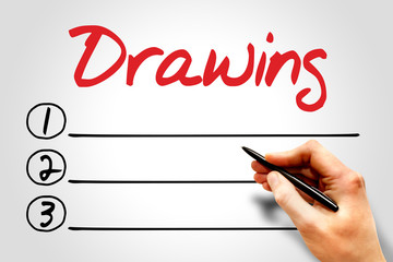 Drawing blank list, business concept