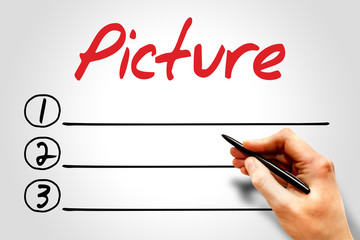 Picture blank list, business concept