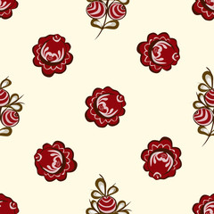 Red berries seamless pattern background