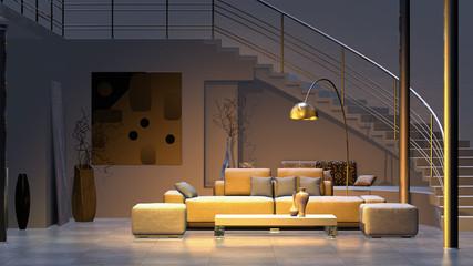 Moderner Wohnraum Fototapete