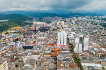 Manizales city in Colombia