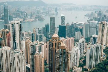 Hongkong Cityscape View from the Jardine's Lookout, Hong Kong, China