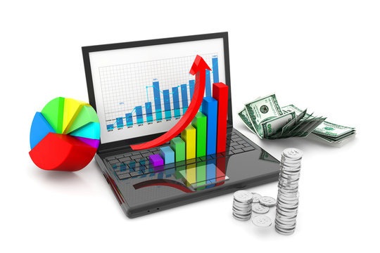 Financial growth chart and graph