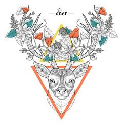 elegant deer head