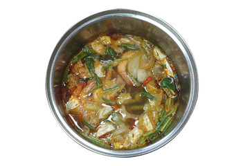 Tom Yam, Thai traditional food, spicy soup