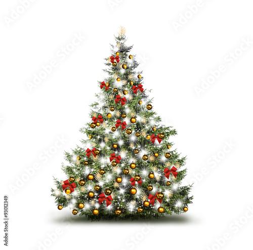 bunt geschm ckter weihnachtsbaum stockfotos und lizenzfreie bilder auf bild 93012349. Black Bedroom Furniture Sets. Home Design Ideas