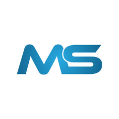 MS company linked letter logo blue