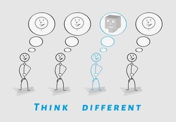 think different, 2D vs 3D