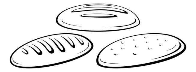 Loaf of Bread Black Pictograms