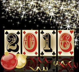 New 2016 poker year background, vector illustration